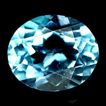 1.53 ct Natural Blue Topaz Oval Cut Loose Gemstone