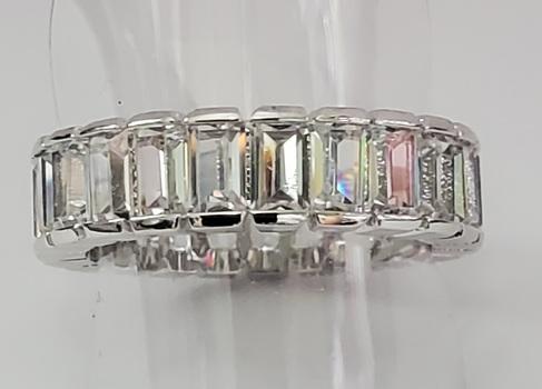 No Reserve White Topaz Eternity Ring Size 7