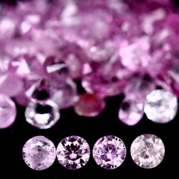 20 Pieces Natural Pink Sapphire Round Cut Loose Gemstone
