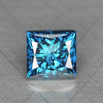 .10 ct Natural Blue Diamond Princess Cut Loose Gemstone