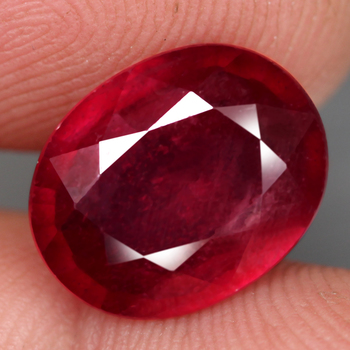 6.65 ct Natural Ruby Oval Cut Loose Gemstone