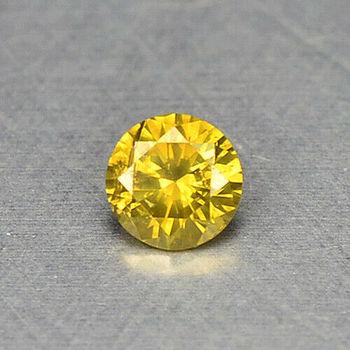 VS1 Natural Yellow Diamond Round Cut Loose Gemstone 3