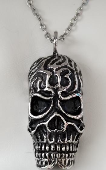 316L Stainless Steel Skull Pendant & Chain