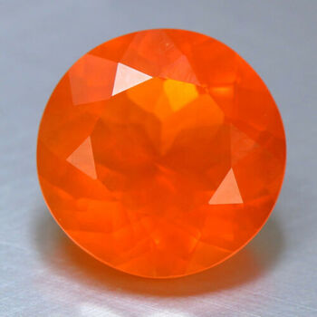 4mm Natural xExican Fire Opal Round Cut Loose Gemstone