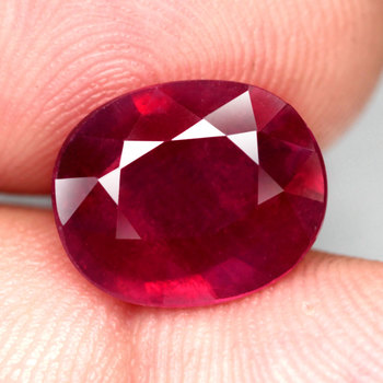 2.08 ct Natural Ruby Oval Cut Loose Gemstone