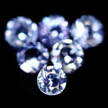 5 Pieces Natural Tanzanite 2mm Loose Gemstones Lot