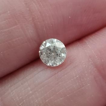 .55 ct Natural H Color Diamond Round Cut Loose Gemstone