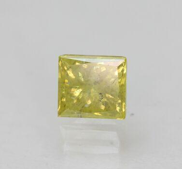 CERTIFIED .56 ct Natural Yellow Diamond Princess Cut Loose Gemstone