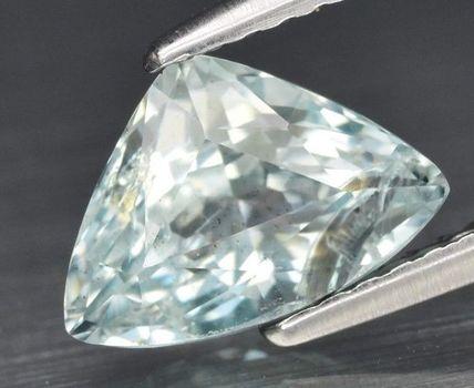 1.61 ct Natural Aquamarine Trillion Cut Loose Gemstone