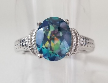 New Rainbow Mystic Topaz Ring Size 5