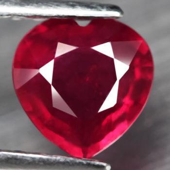 1.48 ct Natural Ruby Heart Cut Loose Gemstone