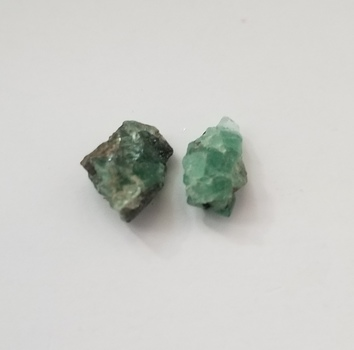 2 Pieces Natural Emerald Rough Raw Cut Loose Gemstone