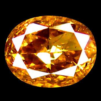 VIDEO .17 ct Natural Orange Diamond Oval Cut Loose Gemstone