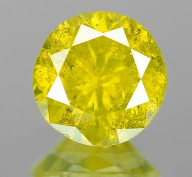.47 ct Natural Yellow Diamond Round Cut Loose Gemstone