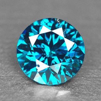 .12 ct Natural Blue Diamond Round Cut Loose Gemstone