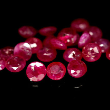 5 Pieces Natural Ruby Round Cut Loose Gemstones