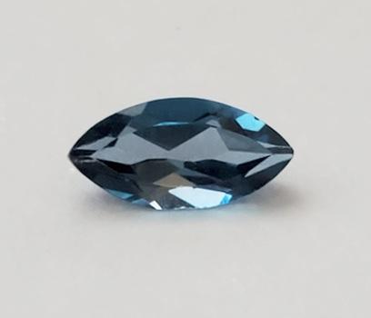 8 x 4mm VVS London Blue Topaz Marquise Cut Loose Gemstone