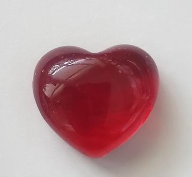 45.42 ct Simulated Ruby Heart Cut Loose Gemstone
