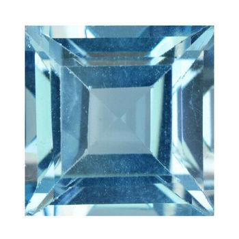 1.36 ct VVS Natural Blue Topaz Square Cut Loose Gemstone