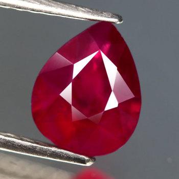 3.21 ct Natural Ruby Pear Cut Loose Gemstone