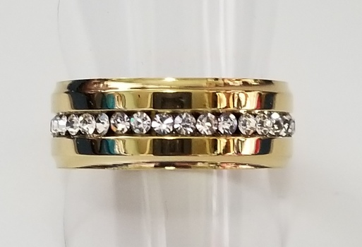Genuine Austrian Crystal Eternity Ring Size 6