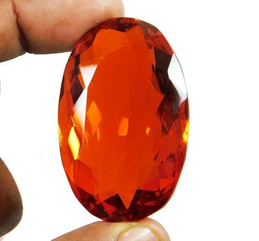 134.20 ct VVS Orange Red Oval Cut Quartz Loose Gemstone