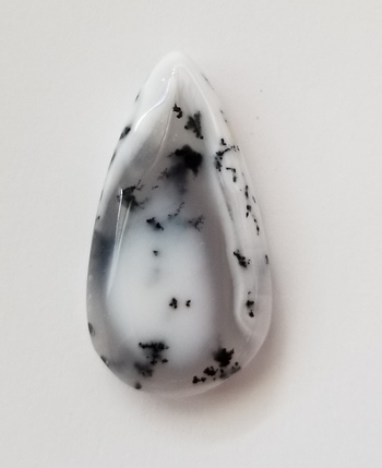 20.60 ct Natural Dendrite Opal Pear Cut Loose Gemstone