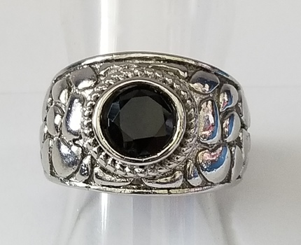 No Reserve Black Onyx Nugget Ring Size 6