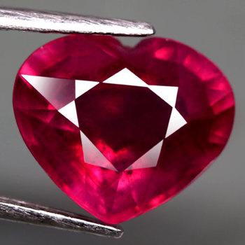 4.25 ct Natural Ruby Heart Cut Loose Gemstone