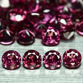 10 Pieces VVS Natural Rhodolite Garnet Round Cut Loose Gemstone