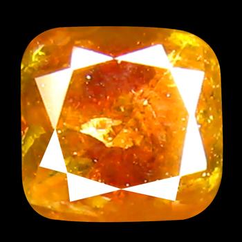 VIDEO .25 ct Natural Orange Diamond Cushion Cut Loose Gemstone