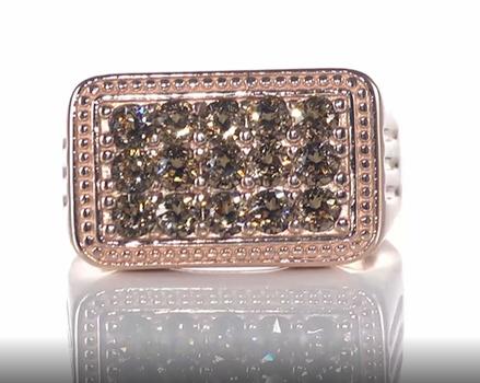 No Reserve Champagne Swarovski Crystal Ring Size 13
