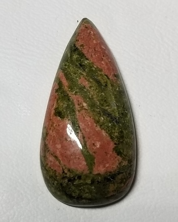 34.84 ct Natural Unakite Pear Cut Loose Gemstone