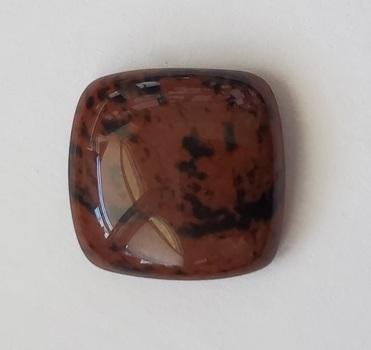 11.98 ct Natural Mahogany Obsidian Cushion Cut Loose Gemstone