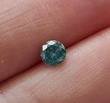 .52 ct Natural Blue Diamond Round Cut Loose Gemstone