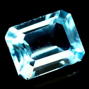 6x4mm VVS Natural Blue Topaz Octagon Cut Loose Gemstone