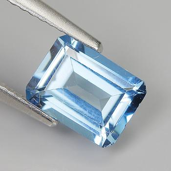 6x4mm VVS Natural Blue Topaz Emerald Cut Loose Gemstone
