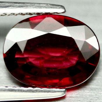 8x6mm VS Natura lMozambique Garnet Oval Cut Loose Gemstone