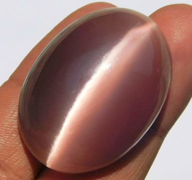 63.30 ct Purple Pink Chrysoberyl Cats Eye Oval Cut Loose Gemstone