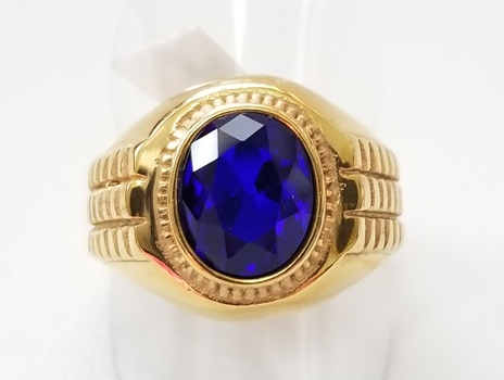 No Reserve Sapphire Rolex Style Ring Size 9