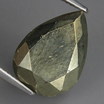 11.75 ct Natural Pyrite Pear Cut Loose Gemstone