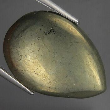 17.13 ct Natural Pyrite Pear Cut Loose Gemstone