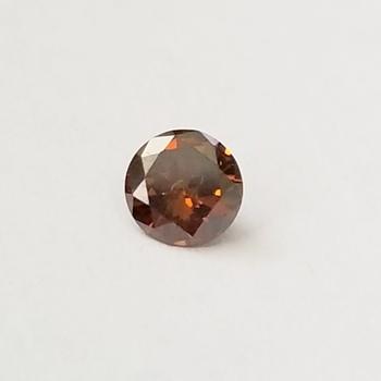 .27 ct Natural Red Cognac Diamond Round Cut Loose Gemstone
