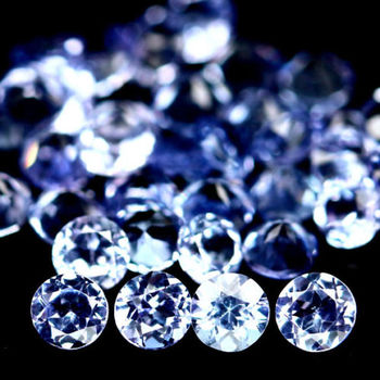 2.5m VVS Natural Tanzanite 5 Pieces Round Cut Loose Gemstone