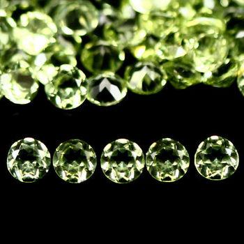 2.5mm VVS Natural Peridot 10 Pieces Round Cut Loose Gemstone