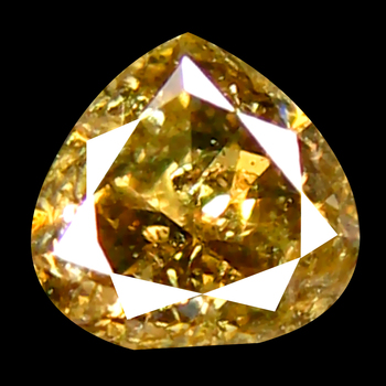 VIDEO .19 ct Natural Yellow Champagne Diamond Pear Cut Loose Gemstone