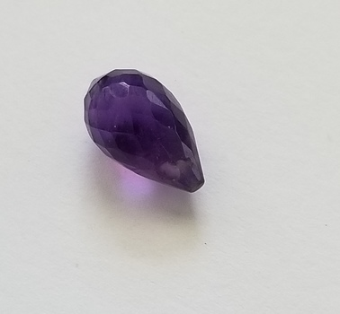 3.35 ct Natural Amethyst Briolette Cut Loose Gemstone