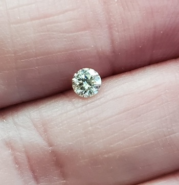 .18 ct Natural K Color Diamond Round Cut Loose Gemstone