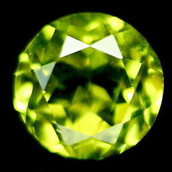 VVS 4.5mm Natural Peridot Round Cut Loose Gemstone