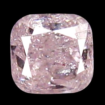 VIDEO Rare .12 ct Natural Pink Diamond Cushion Cut Loose Gemstone